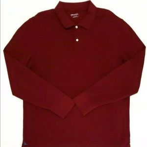 Untuckit Men Polo Long Sleeve 3 Button Pima Cotton